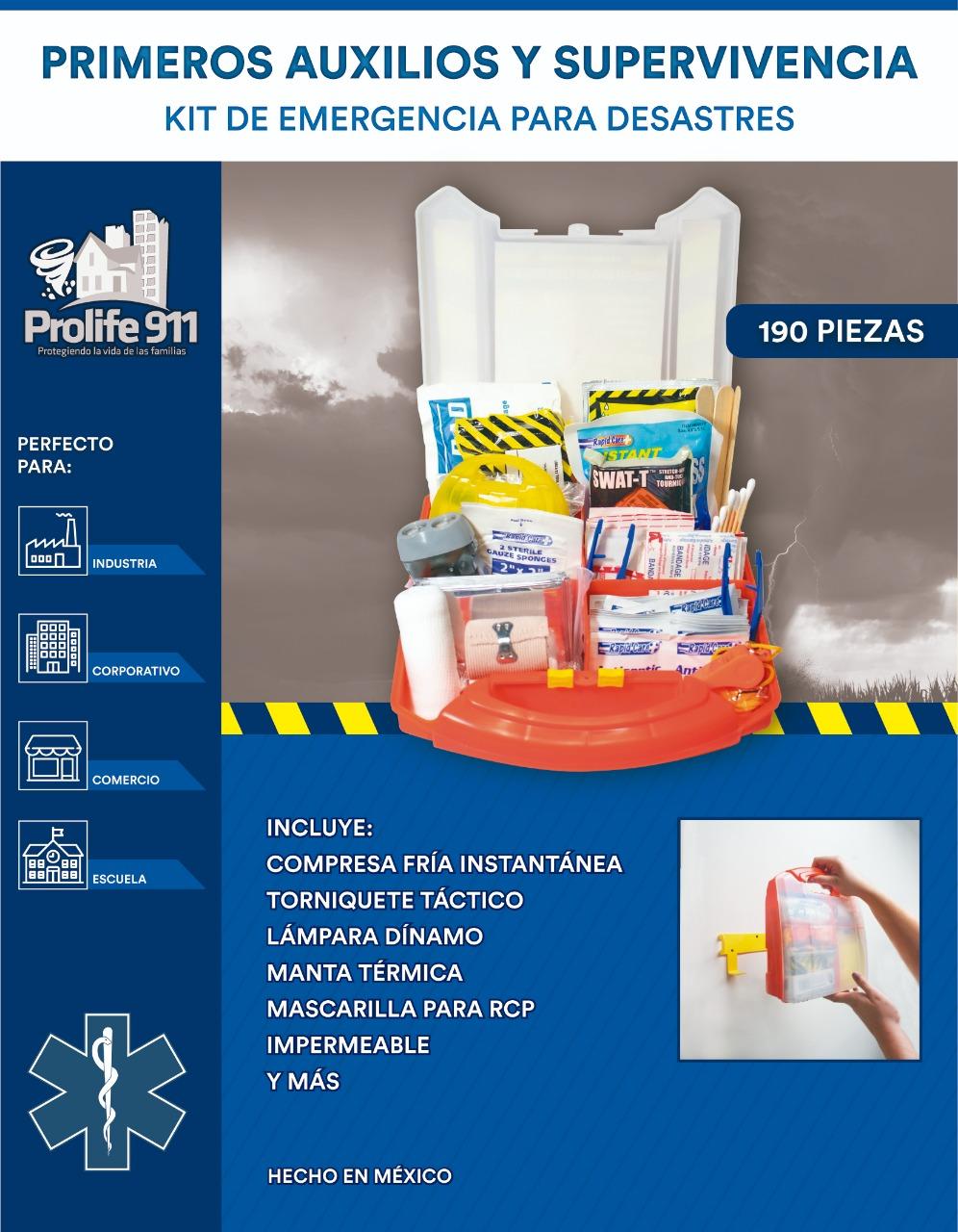 Kit de Emergencias para Salón de Clases - Caja de 12